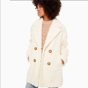 ♠️Kate Spade Teddy Coat Broome Street French Cream